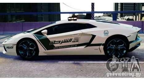 Lamborghini Aventador LP700-4 Dubai Police v1.0 для GTA 4 вид сзади слева