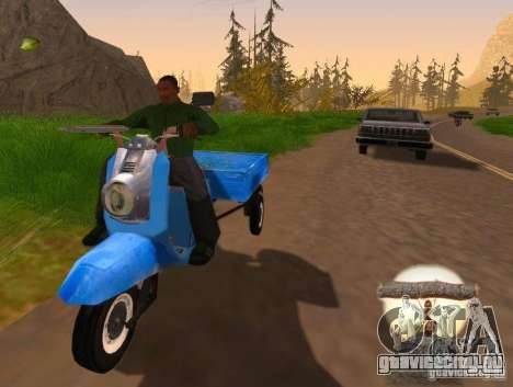 Мотороллер Муравей Турист-М для GTA San Andreas вид слева