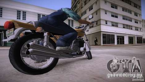 Kawasaki Z1 1975 для GTA Vice City вид справа