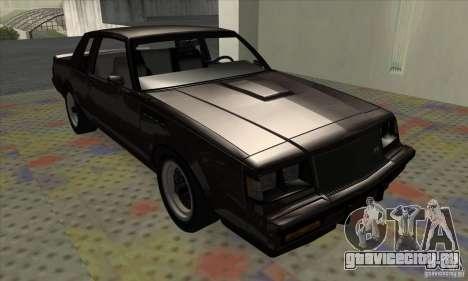 Buick Regal GNX 1987 для GTA San Andreas вид слева
