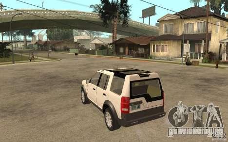Land Rover Discovery 3 V8 для GTA San Andreas вид сзади слева