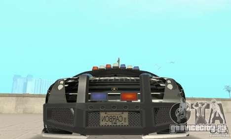 Lamborghini Gallardo Cop V1.0 для GTA San Andreas вид изнутри