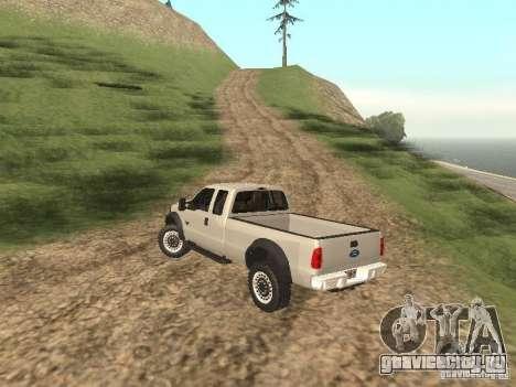 Ford Super Duty F-550 для GTA San Andreas вид справа