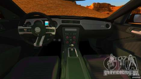 Ford Mustang Boss 302 2013 для GTA 4 вид сзади