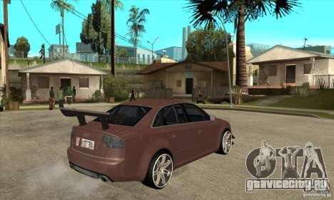 Audi RS4 2006 v2 для GTA San Andreas вид справа