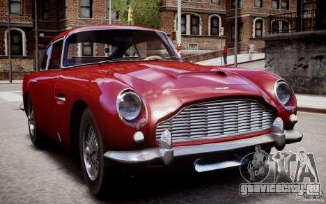 Aston Martin DB5 1964 для GTA 4 вид снизу