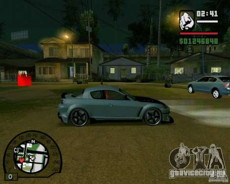 Mazda RX8 JDM Style для GTA San Andreas вид сзади слева