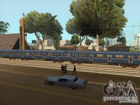 Метро типа 81-717 для GTA San Andreas вид сзади