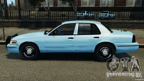 Ford Crown Victoria Police Unit [ELS] для GTA 4 вид слева