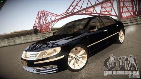 Volkswagen Phaeton W12 для GTA San Andreas вид сзади слева