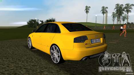Audi RS4 для GTA Vice City вид сзади слева