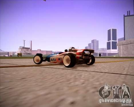 Track Mania Stadium Car для GTA San Andreas вид справа