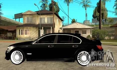 BMW 7-er F02 HAMANN 2010 для GTA San Andreas вид слева