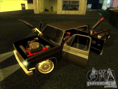 Chevrolet Silverado Towtruck для GTA San Andreas вид справа