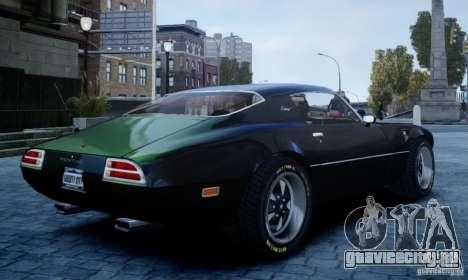 Pontiac Firebird 1971 для GTA 4 вид слева