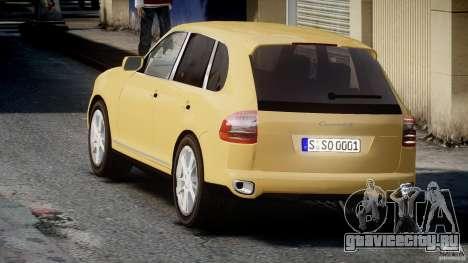 Porsche Cayenne S 2008 для GTA 4 вид сзади слева