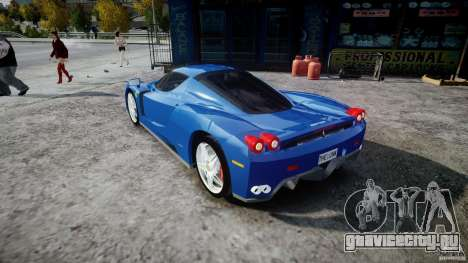 Ferrari Enzo для GTA 4 вид сзади слева