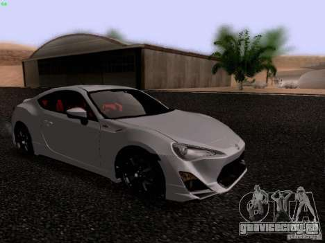 Toyota 86 TRDPerformanceLine 2012 для GTA San Andreas вид слева