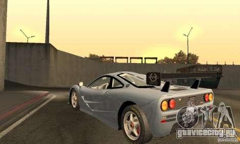 Mclaren F1 LM (v1.0.0) для GTA San Andreas вид сзади слева