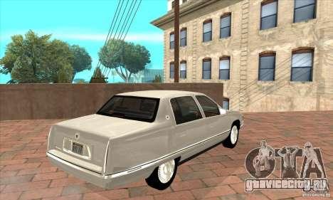Cadillac Deville v2.0 1994 для GTA San Andreas вид справа