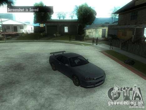 Nissan Skyline GT-R34 V-Spec для GTA San Andreas вид сзади слева