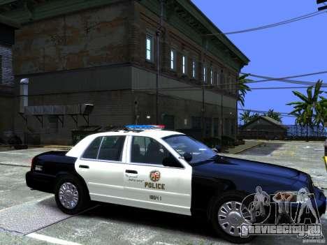 Ford Crown Victoria LAPD [ELS] для GTA 4 вид сзади слева