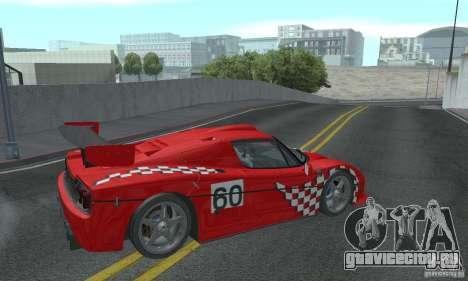 Ferrari F50 GT (v1.0.0) для GTA San Andreas вид справа