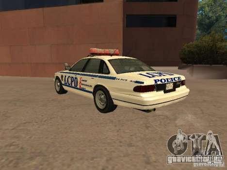 Полиция из гта4 для GTA San Andreas вид справа