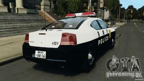 Dodge Charger Japanese Police [ELS] для GTA 4 вид сзади слева