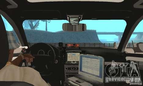 Ford Taurus 2011 Metropolitan Police Car для GTA San Andreas вид сзади
