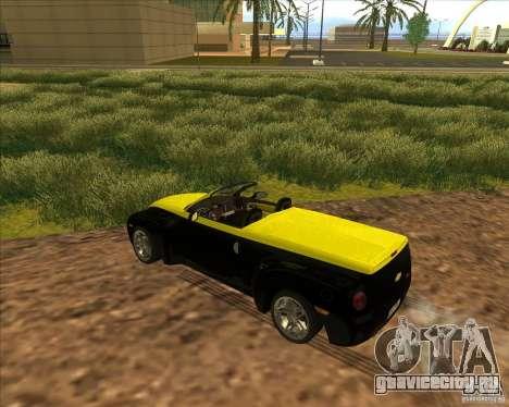 Chevrolet SSR для GTA San Andreas вид изнутри