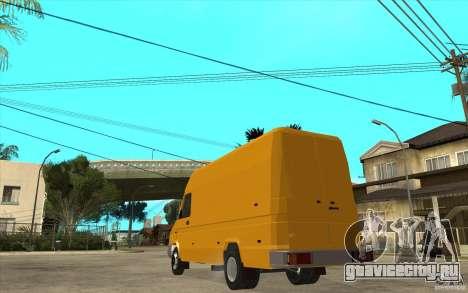 Iveco Turbo Daily для GTA San Andreas вид сзади слева