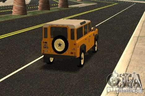 Land Rover Defender 110 для GTA San Andreas вид справа