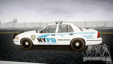 Ford Crown Victoria v2 NYPD [ELS] для GTA 4 вид слева
