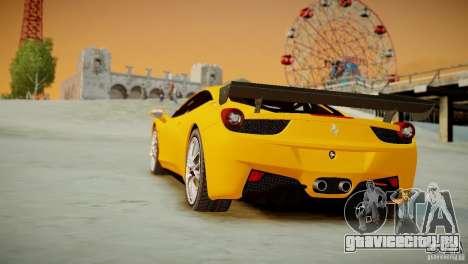 Ferrari 458 Challenge 2011 для GTA 4 вид изнутри