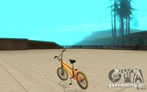 Zeros BMX YELLOW tires для GTA San Andreas вид сзади слева
