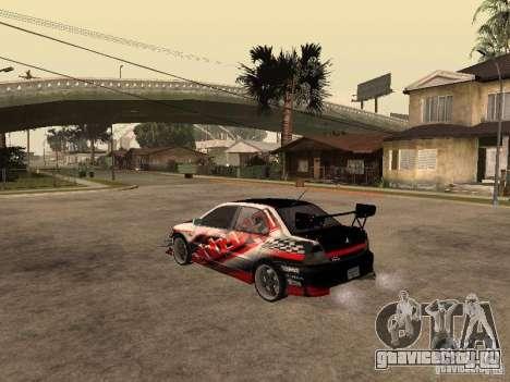 Mitsubishi Lancer Evolution 8 GReddy для GTA San Andreas вид слева