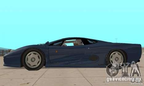 Jaguar XJ220 для GTA San Andreas вид сзади слева