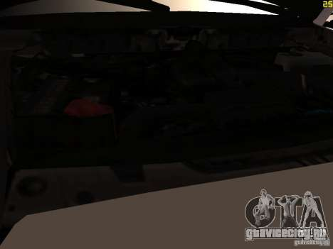 Ford F350 Super Dute для GTA San Andreas вид изнутри