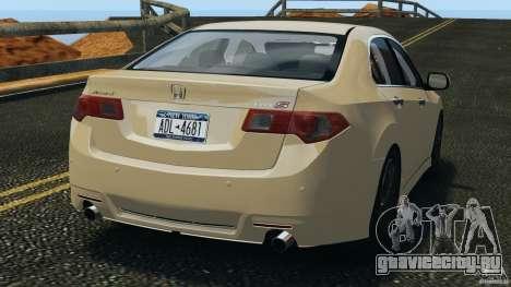 Honda Accord Type S 2008 для GTA 4 вид сзади слева