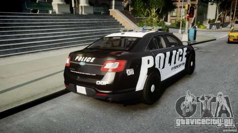 Ford Taurus Police Interceptor 2011 [ELS] для GTA 4 вид сбоку