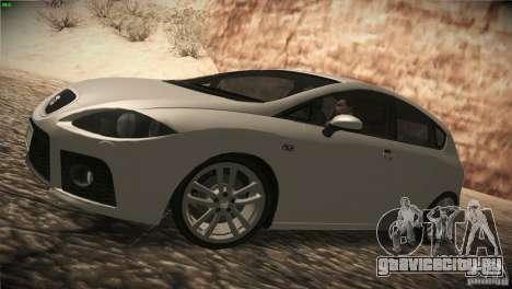 Seat Leon Cupra для GTA San Andreas вид сзади слева