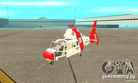 AS-365N береговой охраны США для GTA San Andreas вид слева