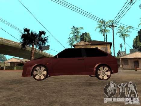 ВАЗ 2108 Tuning для GTA San Andreas вид слева