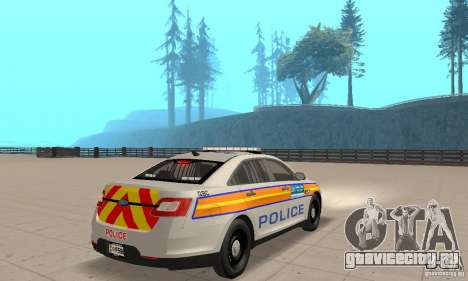 Ford Taurus 2011 Metropolitan Police Car для GTA San Andreas вид слева