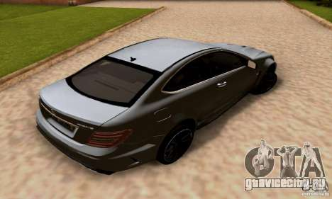 Mercedes-Benz C63 AMG для GTA San Andreas вид снизу