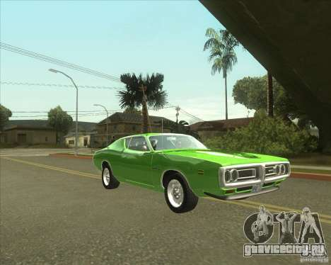 1971 Dodge Charger Super Bee для GTA San Andreas вид сзади слева