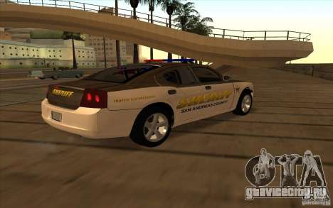 County Sheriffs Dept Dodge Charger для GTA San Andreas вид сзади слева