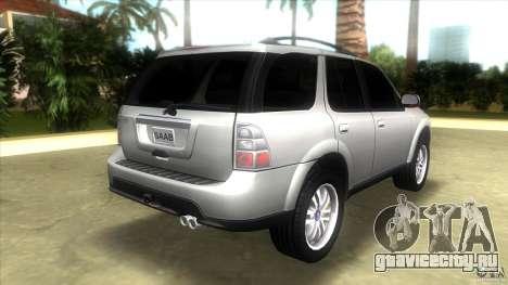SAAB 9-7X для GTA Vice City вид сзади слева