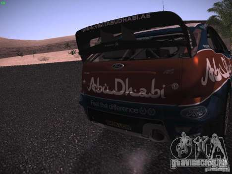 Ford Focus RS WRC 2010 для GTA San Andreas вид сбоку